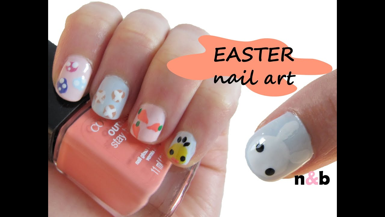 5 cute u0026 easy easter nail art designs special edition youtube