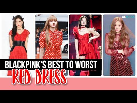 BLACKPINK's Best to Worst RED Dress