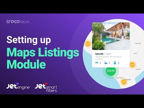 How to set up Maps Listings Module   JetEngine and JetSmartFilters plugins