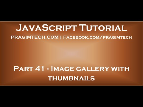 Image gallery with thumbnails in JavaScript