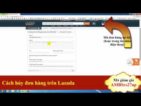 Cách hủy đơn hàng trên Lazada (mail)
