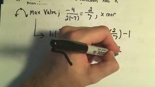 Repeat youtube video Maximum and Minimum Values of Quadratic Functions