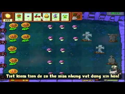 Plants vs zombies (Trồng cây bắn zombie) - Cấp độ 2-1 (Game Việt Hóa)