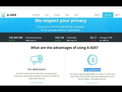 A-ADS.com Review - Bitcoin Advertising Network