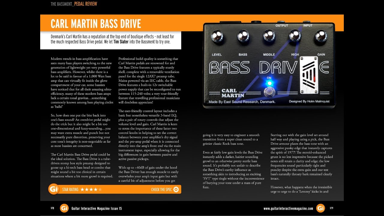 931a0641757 Carl Martin Bass Drive Pedal Review - WIN this Pedal in Guitar ...