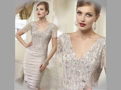 gorgeous-short-satin-tulle-mother's-of-the-bride-dresses-with-jacket/evening-midi-dress-2019
