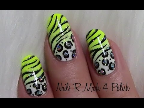 sommerliches leo tiger muster nageldesign wild summer animal nail art design tutorial youtube. Black Bedroom Furniture Sets. Home Design Ideas