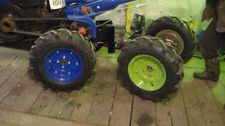 Трансмиссия минитрактора с шарнирно-сочлененной рамой / Transmission mini tractors
