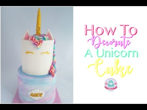 HOW TO MAKE A UNICORN CAKE | Abbyliciousz The Cake Boutique