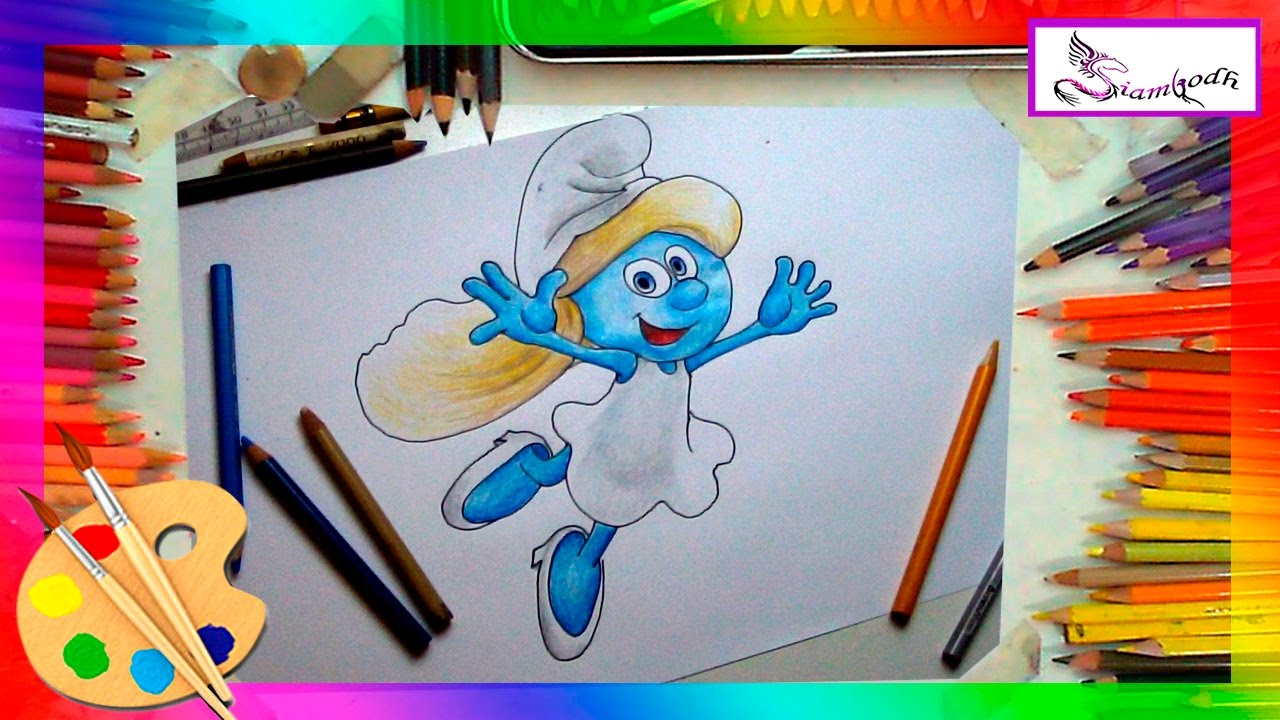 Drawing Smurf Smurfs Easy Drawing Tutorial for Kids. - YouTube