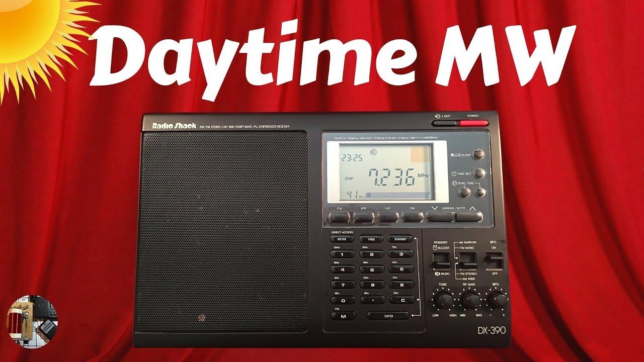 Radio Shack DX-390 Shortwave Radio Daytime MW