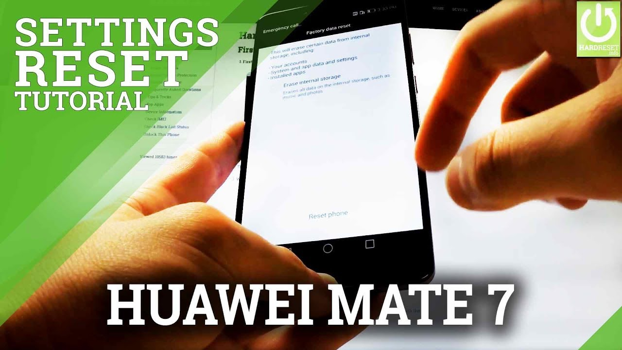 How To Restore Facotry Settings Huawei Ascend Mate 7 Hard Reset