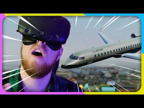 FLYING A GTA PLANE IN VR (Grand Theft Auto 5 HTC Vive MOD)