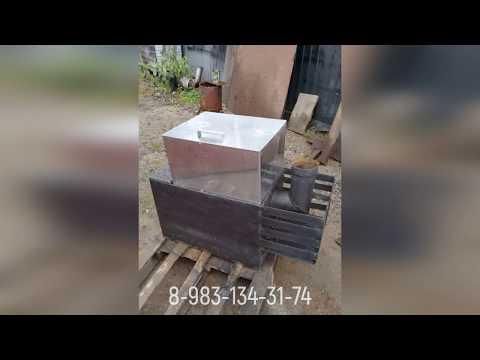 Сварка. Печь в баню с баком из нержавейки от Михалыча.