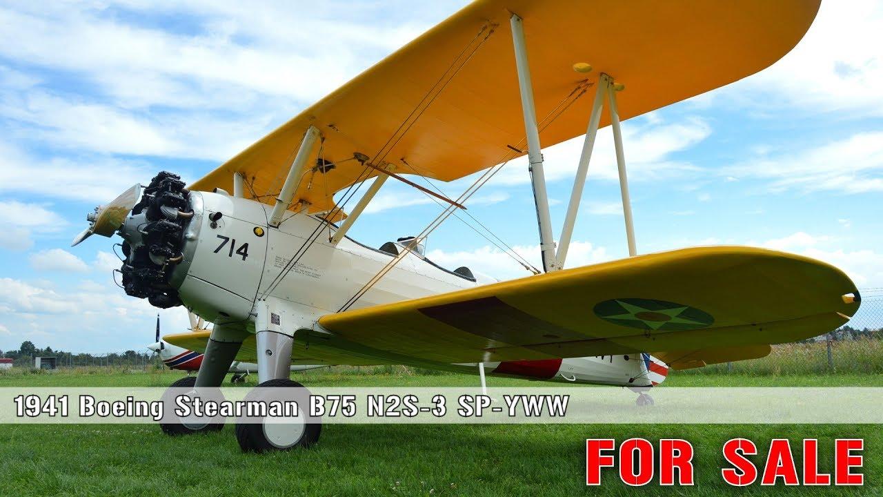 BOEING B75 STEARMAN NS2-3 SP-YWW FOR SALE