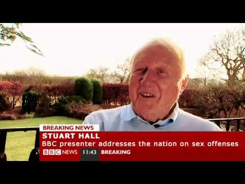 BBC Presenter Stuart Hall addresses the nation