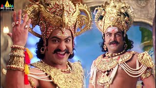 Yamadonga Movie Jr NTR and Mohan Babu Scenes Back to Back | Rajamouli Movie Scenes @SriBalajiMovies