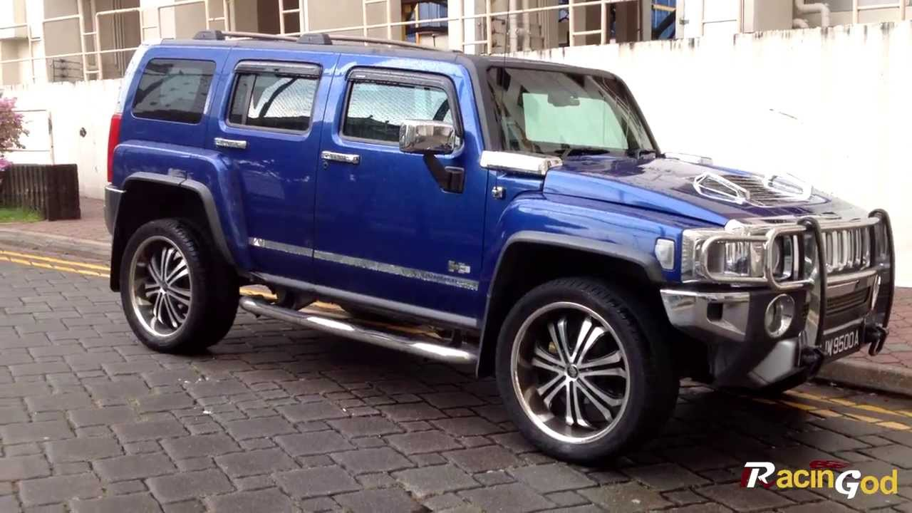blue hummer h3 walkaround youtube