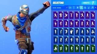 BLUE SQUIRE SKIN SHOWCASE WITH ALL FORTNITE DANCES & EMOTES