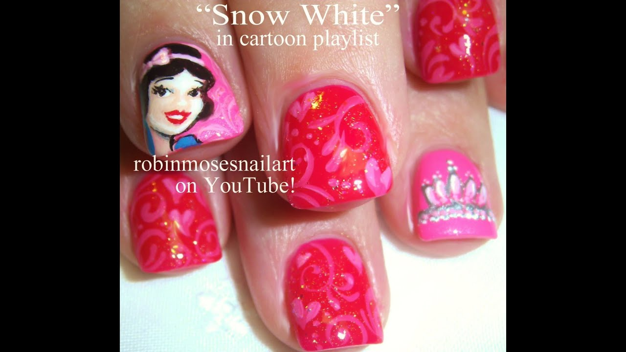 3 Nail Art Tutorials | DIY Snow White Nails | Short Nails ...