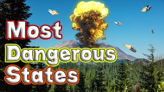 Top 10 Most Dangerous States for Natural Disasters.