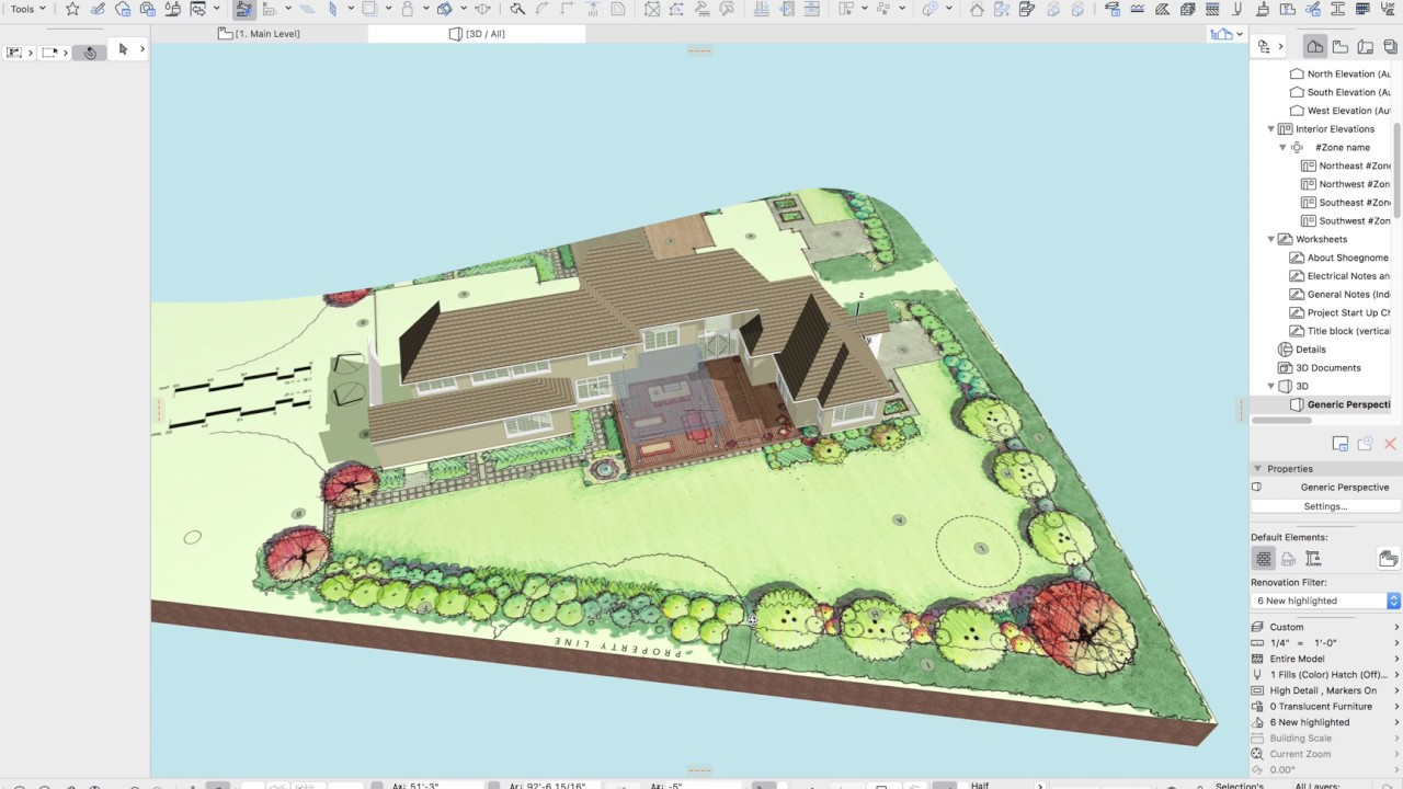 archicad tip 62 images on meshes for site plans [ 1280 x 720 Pixel ]
