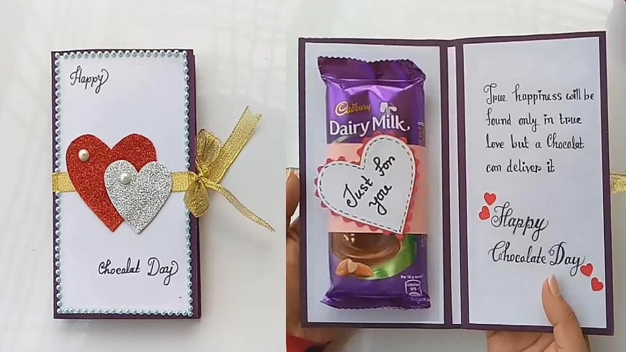 How To Make Card For Chocolate Day Greeting Card Idea For