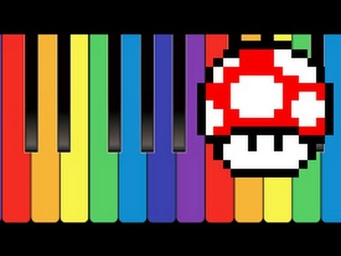 Mario Theme Tune On Piano With Notes In