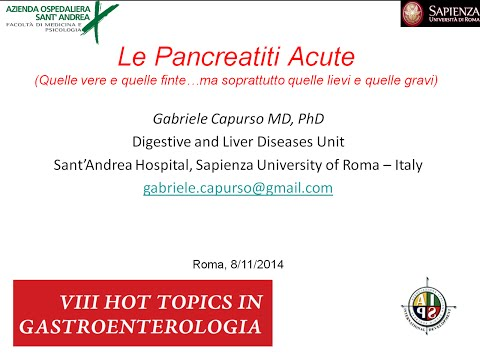 Le Pancreatiti Acute: quelle vere e quelle false (G. Capurso)