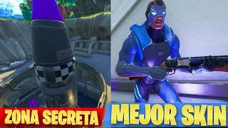 EXPLORING THE AREA *SECRETA* and IMPROVING THE SKIN IN FORTNITE [SEASON 4] - AlphaSniper97