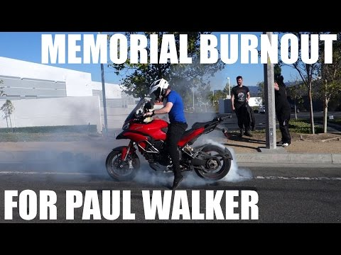 Burnout At Paul Walker's Crash Site