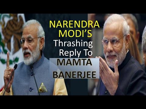 PM Narendra Modi Thrashing reply to Mamta Benerjee & Arvind Kejriwal