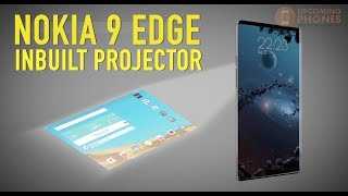 nokia 9 edge concept design   bezel less edged dispaly   in built projector