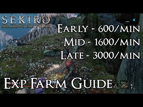 Sekiro: Shadows Die Twice - Updated Skill XP Farming Guide - Early, Mid, & Late Game