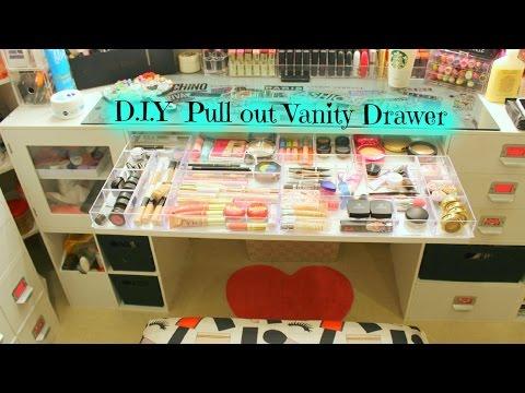 ♡ DIY Pull out vanity Drawer ♡