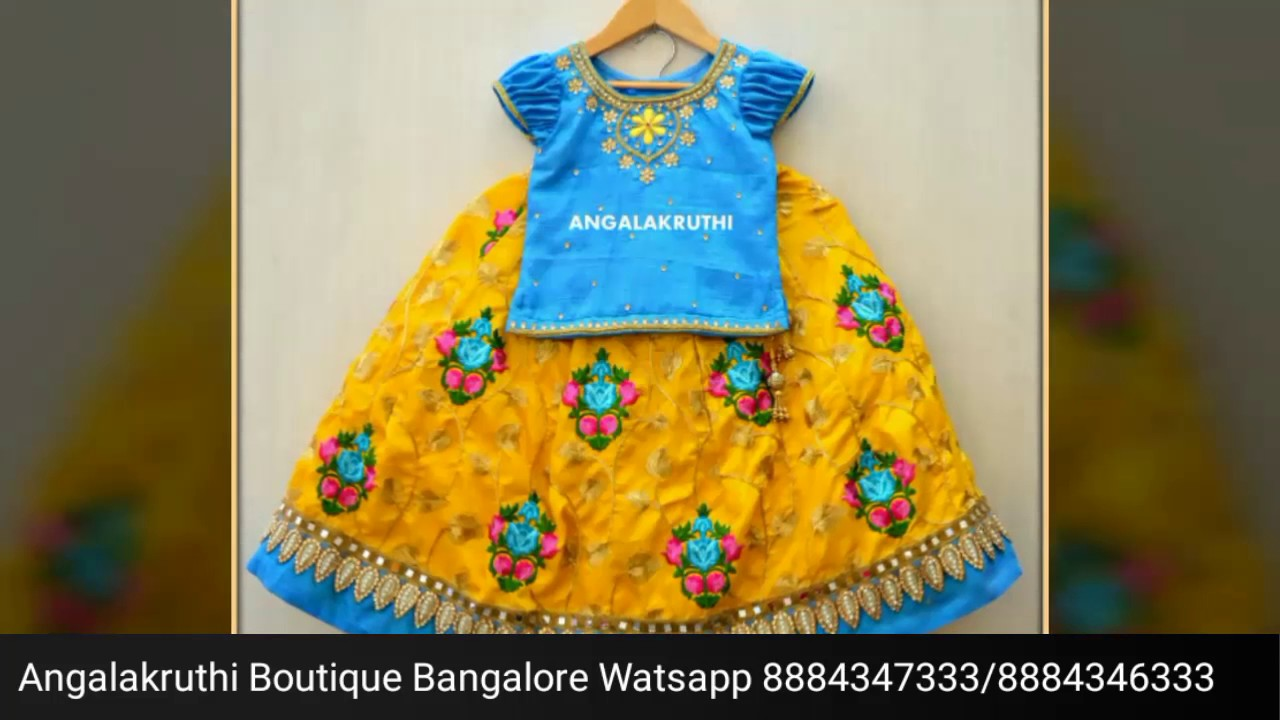 6452287fb Indian tradational style kids frock designs by Angalakruthi boutique ...