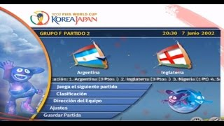 FIFA World Cup 2002 (PC) Gameplay - Argentina vs Inglaterra