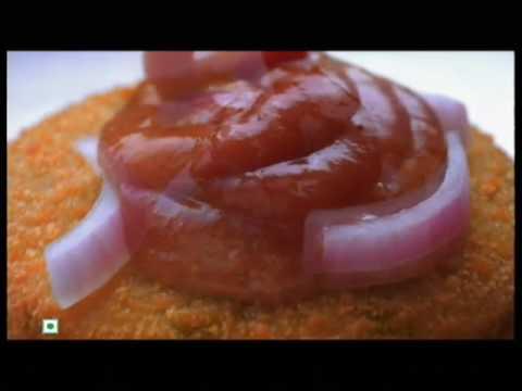how to make mcdonalds aloo tikki burger in hindi