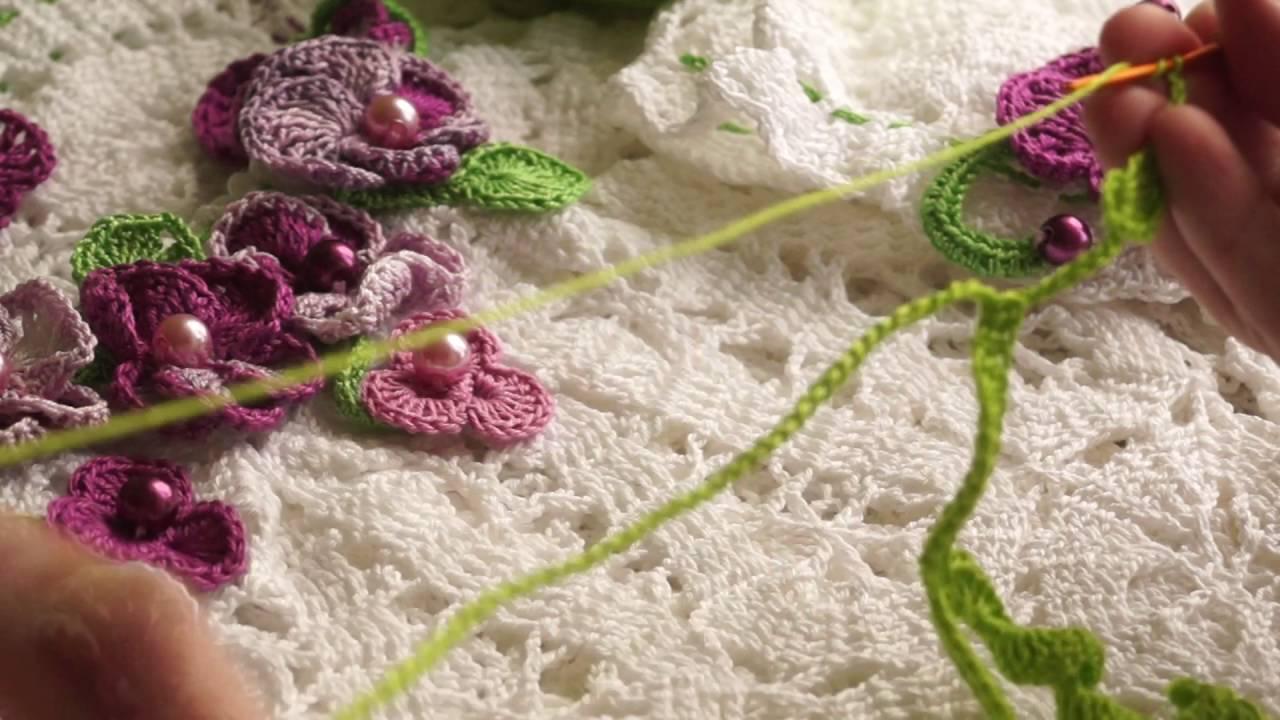 Вязание крючком украшений на платья