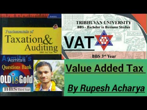 Value Added Tax(VAT) Bbs 3rd Year   Vat Bbs 3rd Year  