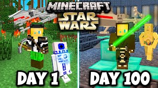I Survived 100 days in STAR WARS Minecraft Galaxy...Here's What Happened...