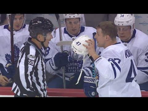 "Komarov gets called for rare ""illegal equipment"" penalty"