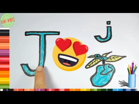Draw and color letter J with Rio kids🎨Learn simple alphabet💖Rio Kids