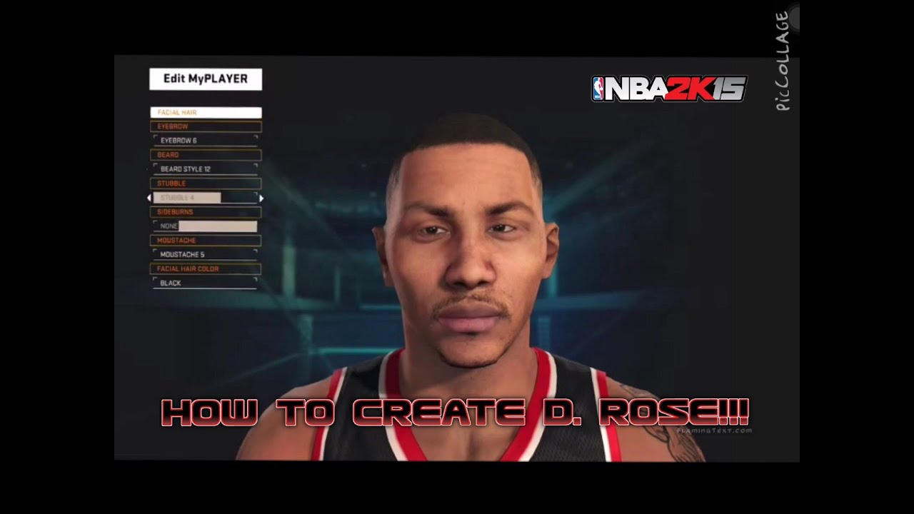 how to create derrick rose in nba 2k15 my player face