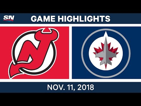 NHL Highlights | Devils vs. Jets – Nov. 11, 2018