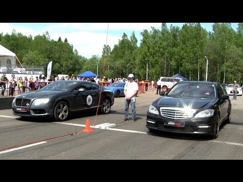 Mercedes S 65 AMG vs Bentley Continental GT V8 vs Nissan GT-R
