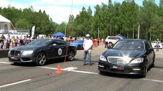 Mercedes S 65 AMG vs Bentley Continental GT V8 vs Nissan GT-R