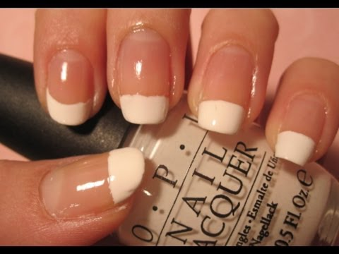 Tutorial Easy French Tips Square Round Nail Shapes Youtube