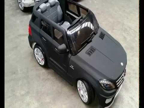 kinderauto kinder elektroauto mercedes benz ml63 amg voll gummi bereifung 90w 12v mp3 youtube. Black Bedroom Furniture Sets. Home Design Ideas