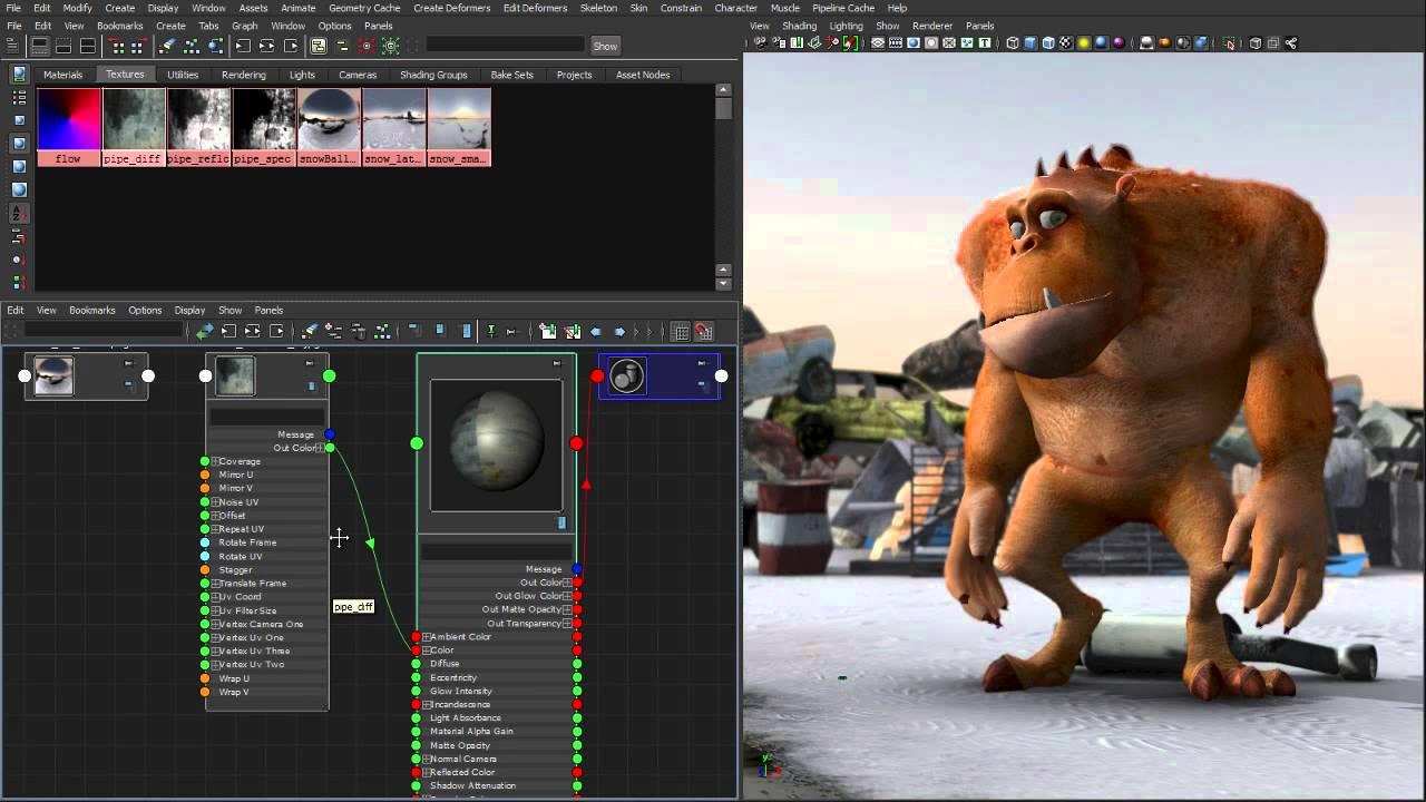 Maya 2014 New Features: Node Editor